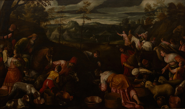 Painting - Activity「Moses Striking Water From The Rock 16th Century」:写真・画像(1)[壁紙.com]