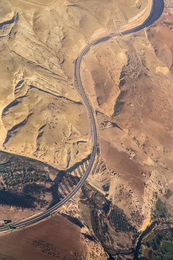 Road Construction「New highway and viaduct in Morocco」:スマホ壁紙(15)