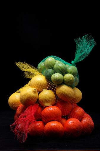 Orange - Fruit「Mandarin Oranges, Lemons and Limes in Netting」:スマホ壁紙(2)