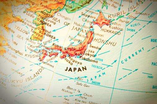 Map of the world「旅行の世界中のシリーズ-日本」:スマホ壁紙(13)