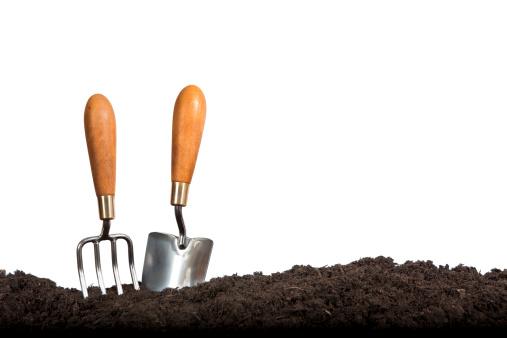 Gardening「Gardening Hand Tools on White Background」:スマホ壁紙(3)