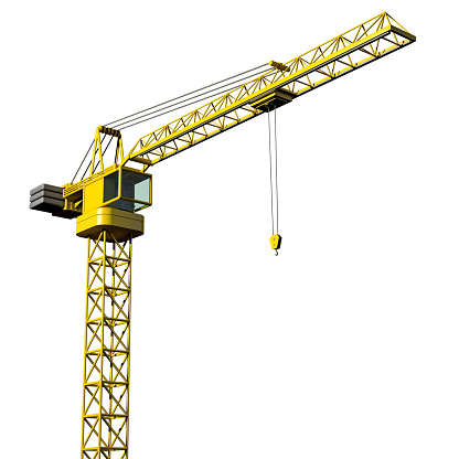Crane - Construction Machinery「Crane on white background」:スマホ壁紙(11)