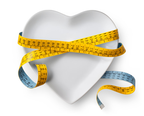 Fat - Nutrient「Diet. Heart shaped dish with measuring tape.」:スマホ壁紙(2)