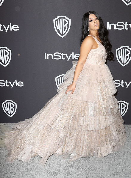 Flounced Dress「InStyle And Warner Bros. Golden Globes After Party 2019 - Arrivals」:写真・画像(10)[壁紙.com]