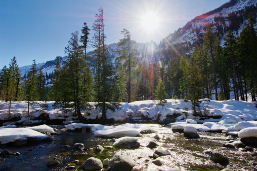 ウェナチー国有林「USA, Washington State, Wenatchee National Forest, winter landscape」:スマホ壁紙(4)