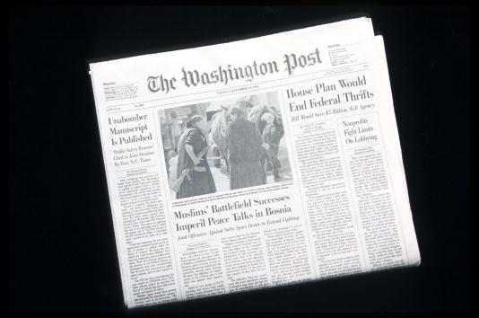 The Washington Post「Unabomber Text Published In The Washington Post」:写真・画像(4)[壁紙.com]