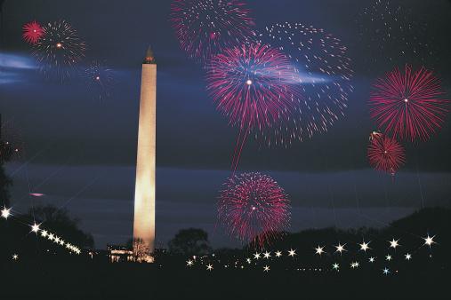 Fourth of July「Washington Monument and fireworks , Washington DC」:スマホ壁紙(2)