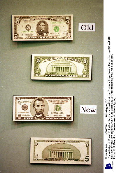 Treasury - Finance and Government「Redesigned Five Dollar Bill」:写真・画像(4)[壁紙.com]