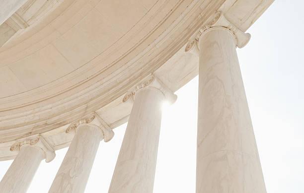 USA, Washington DC, Jefferson Memorial, Close up of columns:スマホ壁紙(壁紙.com)
