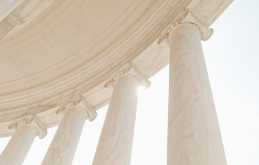 Architectural Feature「USA, Washington DC, Jefferson Memorial, Close up of columns」:スマホ壁紙(5)