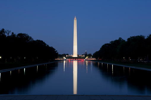 Patriotism「Washington Monument and Reflecting Pool」:スマホ壁紙(9)