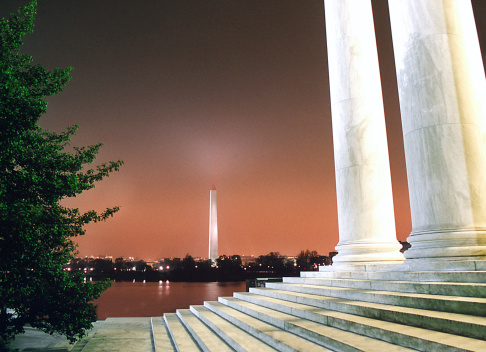 ワシントンDC「ワシントンモニュメント&ジェファーソン記念館」:スマホ壁紙(19)
