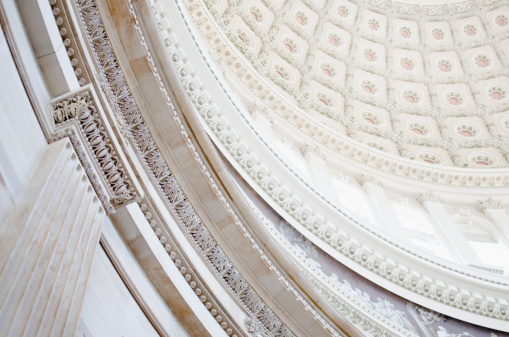 Government Building「USA, Washington DC, Capitol Building, Close up of coffers on ceiling」:スマホ壁紙(6)