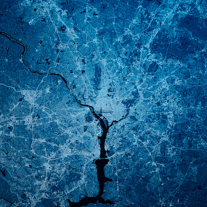 Digital Composite「Washington DC 3D Render Blue Top View Mar 2019」:スマホ壁紙(13)