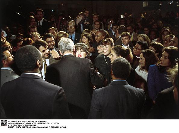 Bill Clinton「Monica Lewinsky Embraces President Bill Clinton At A Democrati」:写真・画像(2)[壁紙.com]
