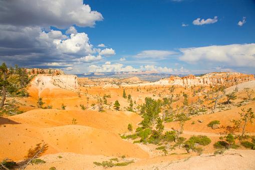 White Color「Orange sandstone mounds in Bryce National Park, Utah」:スマホ壁紙(1)