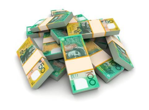 Banking「Stack of Australian dollars」:スマホ壁紙(3)