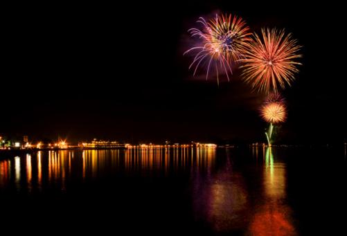 Adirondack Mountains「Lake George Fireworks」:スマホ壁紙(1)