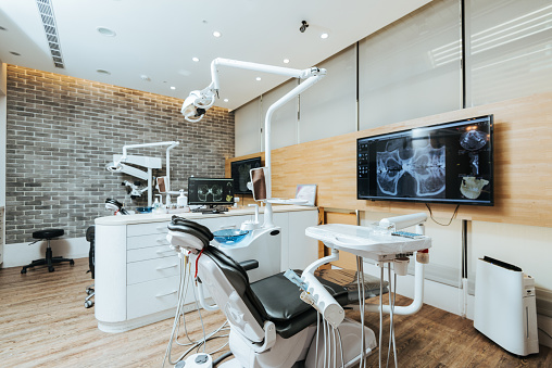Technology「Dentist office with modern equipment and microscope」:スマホ壁紙(9)