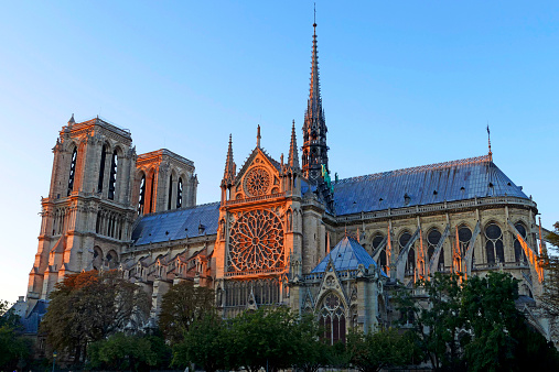 海外旅行「Cathedral Notre Dame de Paris, Paris, France」:スマホ壁紙(12)