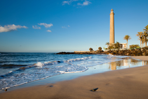 Atlantic Islands「Maspalomas lighthouse and beach」:スマホ壁紙(10)