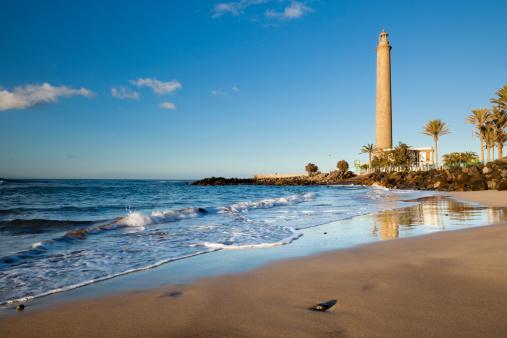 Atlantic Islands「Maspalomas lighthouse and beach」:スマホ壁紙(2)