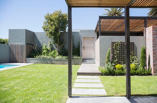 造園「Sunny modern backyard」:スマホ壁紙(18)