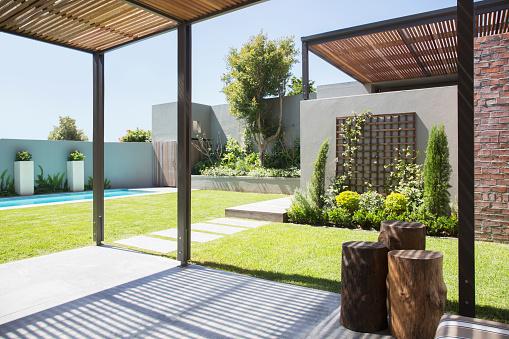 造園「Sunny modern backyard」:スマホ壁紙(4)