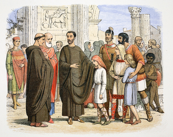 Monk - Religious Occupation「St Gregory The Great And The English Slaves At Rome 590 (1864)」:写真・画像(4)[壁紙.com]