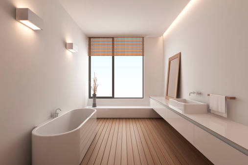 Digitally Generated Image「Modern Bathroom」:スマホ壁紙(0)