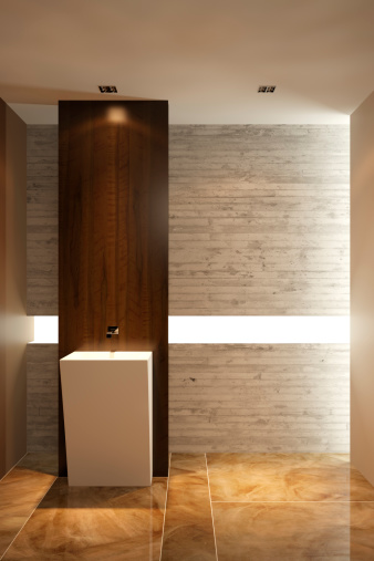 Digitally Generated Image「Modern Bathroom」:スマホ壁紙(6)