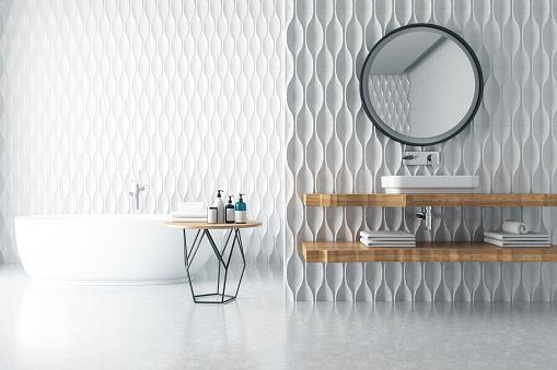 Brick Wall「Modern Bathroom」:スマホ壁紙(5)