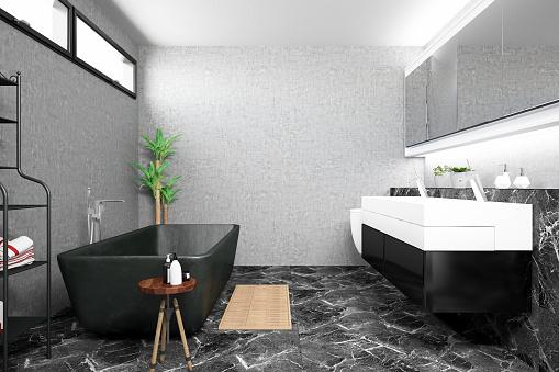 Brick Wall「Modern Bathroom」:スマホ壁紙(19)