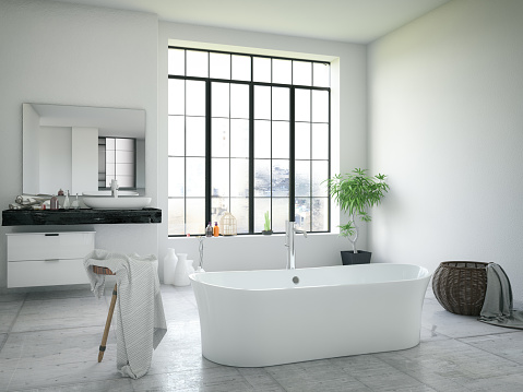 Window Frame「Modern Bathroom」:スマホ壁紙(11)