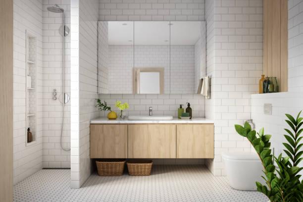 Modern Bathroom Interior stock photo:スマホ壁紙(壁紙.com)