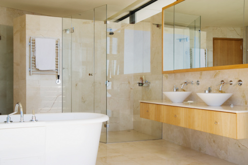 Indulgence「Modern bathroom shower vanity and bathtub」:スマホ壁紙(17)