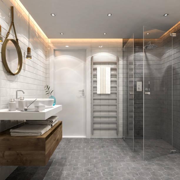 Modern bathroom interior:スマホ壁紙(壁紙.com)