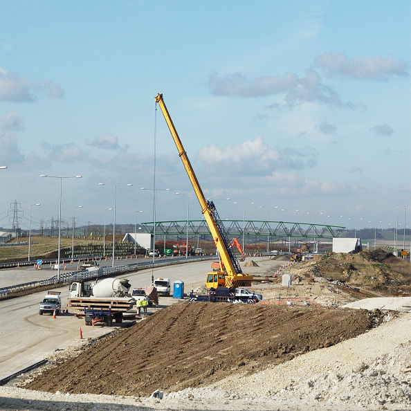Mobile Crane「Junction upgrade of A2 near Bean, Kent, UK」:写真・画像(1)[壁紙.com]