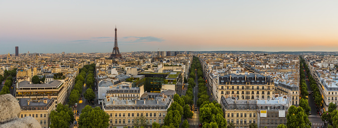 Boulevard「View of the town from Arc de Triomphe」:スマホ壁紙(1)