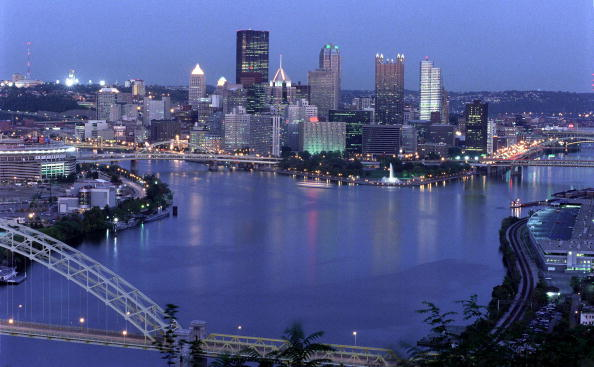 No People「Pittsburgh Skyline At Dusk 」:写真・画像(5)[壁紙.com]