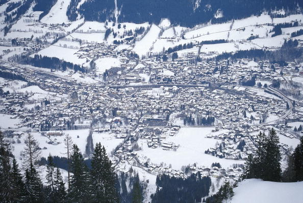 Panoramic「View of the winterly Kitzbuehel from the so called Seidlalm, Photograph, Tyrol, Austria, Around 2000」:写真・画像(8)[壁紙.com]