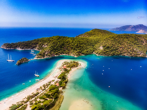Coastline「View of the Blue Lagoon, Oludeniz, Mugla, Turkey」:スマホ壁紙(18)
