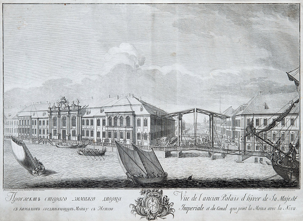 Water's Edge「View of the second Winter Palace with the Canal Linking the Moika with the Neva, 1753」:写真・画像(12)[壁紙.com]