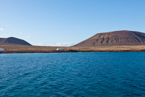 La Graciosa - Canary Islands「View of the island from the ferry boat」:スマホ壁紙(15)