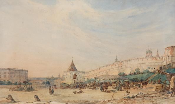 都市景観「View Of The Kitay-Gorod In Moscow 1850-1860s」:写真・画像(6)[壁紙.com]
