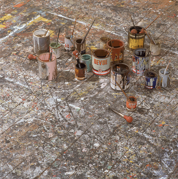 Artist「Floor Of Jackson Pollock's Studio」:写真・画像(7)[壁紙.com]