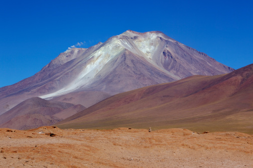Active Volcano「View of the active Ollague Volcano, Los Lipez, South western Bolivia, South America」:スマホ壁紙(13)