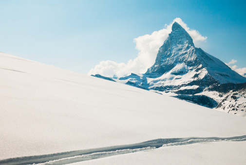 Snow mountain「View Of The Matterhorn From A Snow Covered Plateau」:スマホ壁紙(17)