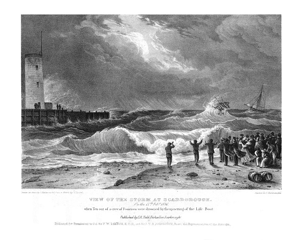 乗客輸送船「View Of The Storm At Scarborough On The 17Th February 1836 Creator: Charles Joseph Hullmandel」:写真・画像(17)[壁紙.com]