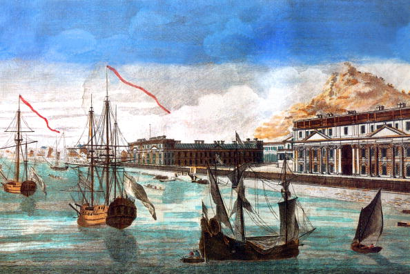 Tamil Nadu「view of the admirality and the stores of the East India Company in Pondicherry , engraving, 19th century」:写真・画像(18)[壁紙.com]